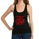 lift as much as you socialize Racerback Tank Top