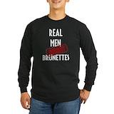 Brunettes Long Sleeve Dark T-Shirts