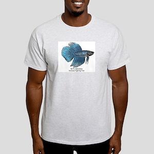 Blue Betta Splendens -Siamese T-Shirt