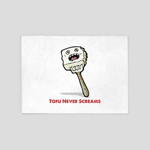 Tofu Never Screams 5'x7'Area Rug
