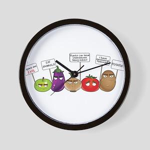 Plants Tho Wall Clock