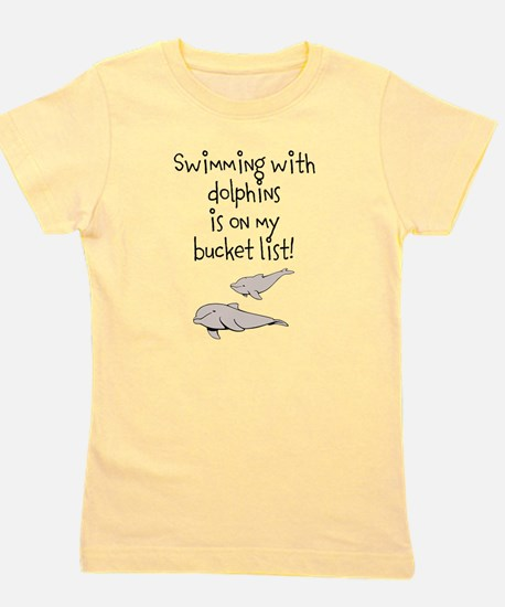 Swimming With Dolphins Girl's Tee