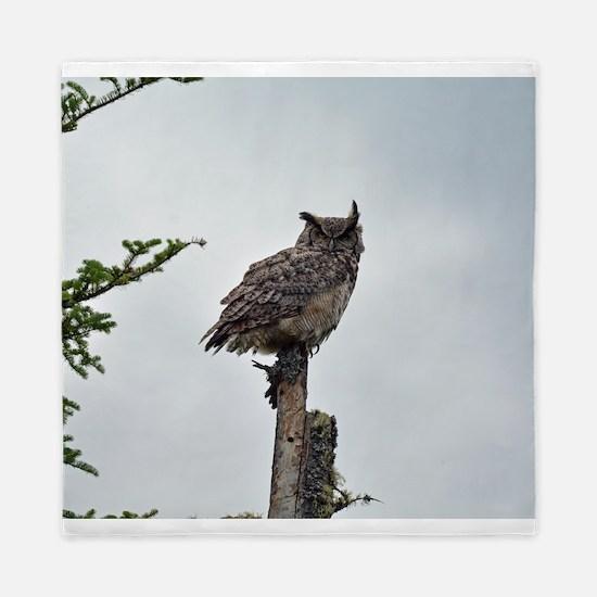 Great Horned Owl Queen Duvet