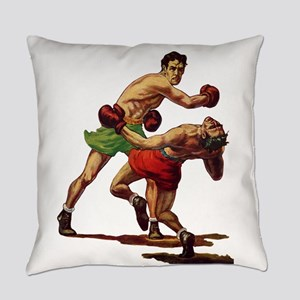 Vintage Sports Boxing Everyday Pillow