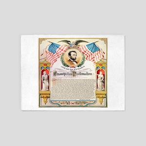Emancipation Proclamation 5'x7'Area Rug