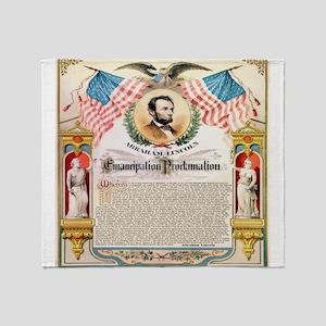 Emancipation Proclamation Throw Blanket