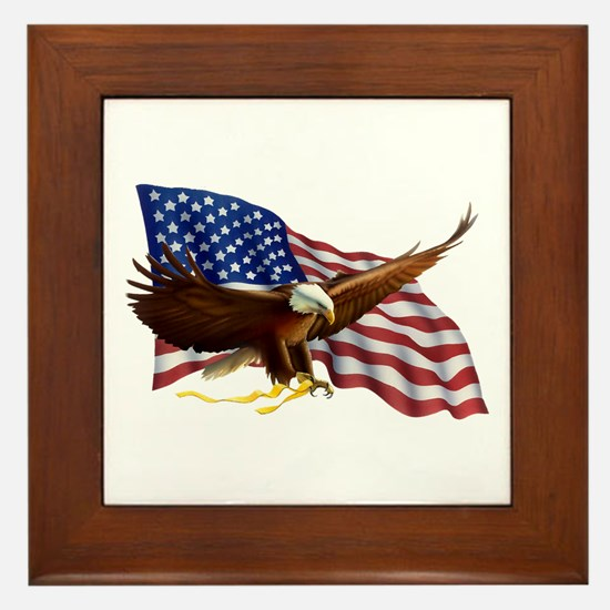 Unique Eagles Framed Tile