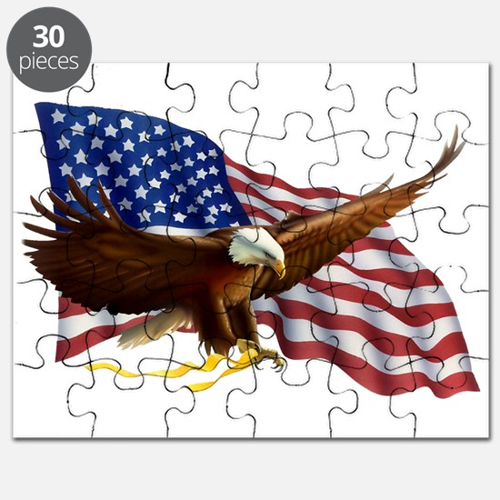 Cute God bless america Puzzle