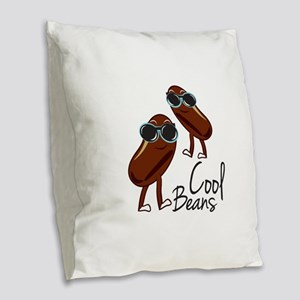Cool Beans Burlap Throw Pillow
