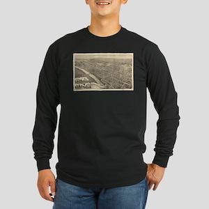Vintage Pictorial Map of Wilke Long Sleeve T-Shirt