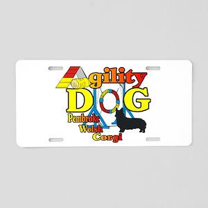 Pembroke Corgi Agility Aluminum License Plate