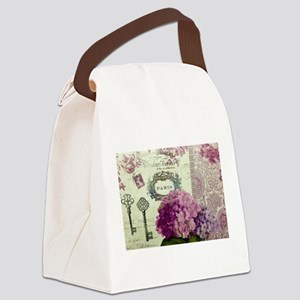 Letters from Paris Canvas Lunch Bag