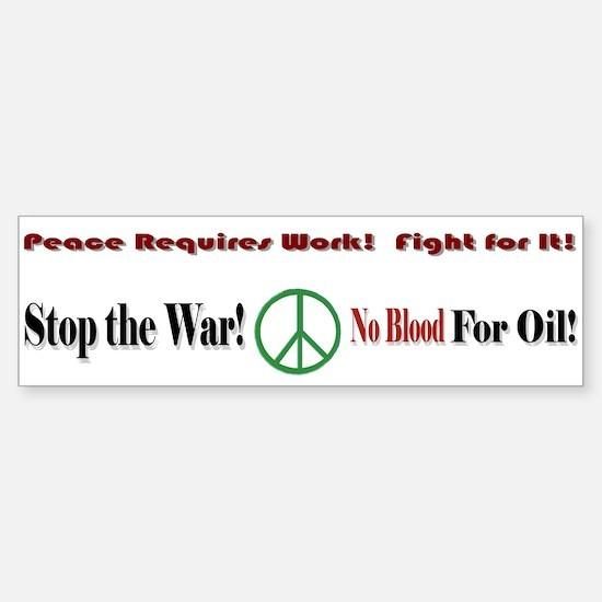 """""""Peace"""" Bumper Bumper Bumper Sticker"""