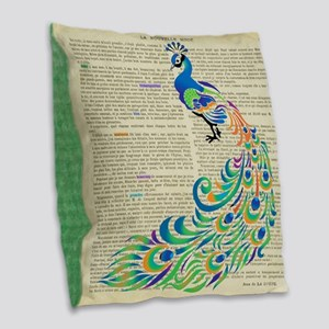 Magnificent Colored Feathers * Burlap Throw Pillow