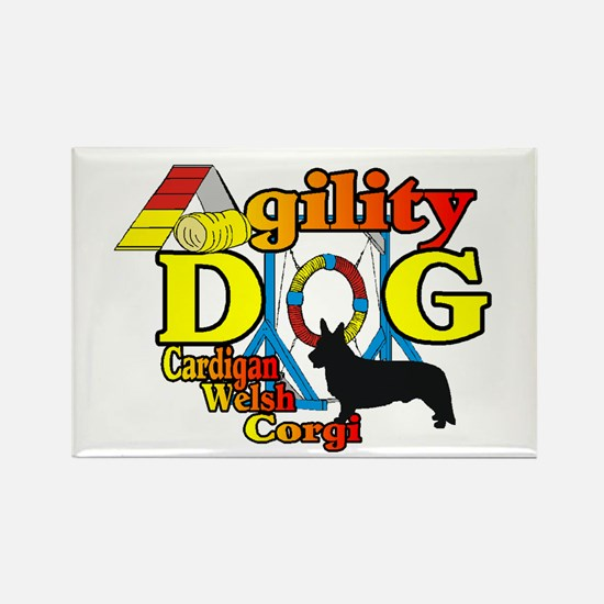 Cardigan Corgi Agility Rectangle Magnet (10 pack)