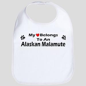 My Heart Alaskan Malamute Bib
