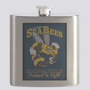 SEABEES Born To Build Flask