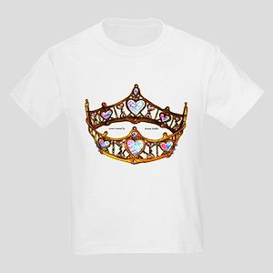 Queen of Hearts gold metal crown tiara T-Shirt