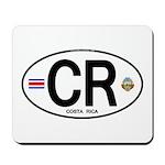 Costa Rica Euro Oval Mousepad
