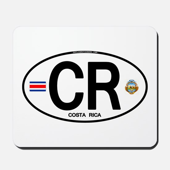 Costa Rica Euro Oval Mousepad