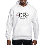 Costa Rica Euro Oval Hooded Sweatshirt