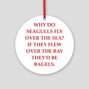 seagulls Round Ornament