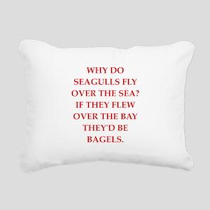 seagulls Rectangular Canvas Pillow