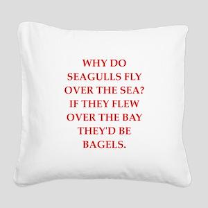 seagulls Square Canvas Pillow
