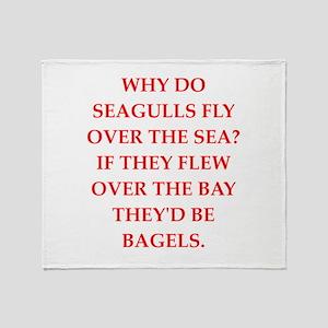 seagulls Throw Blanket