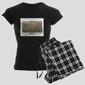 Vintage Pictorial Map of You Women's Dark Pajamas