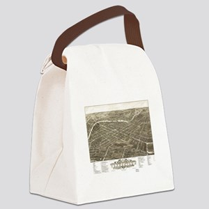 Vintage Pictorial Map of Youngsto Canvas Lunch Bag