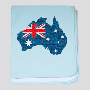 sequin australian flag baby blanket