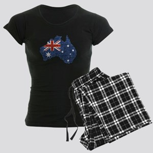 sequin australian flag Women's Dark Pajamas