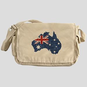 sequin australian flag Messenger Bag