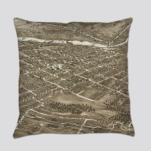 Vintage Pictorial Map of Youngstow Everyday Pillow