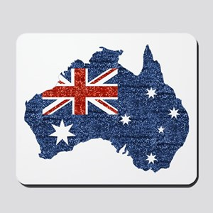 sequin australian flag Mousepad