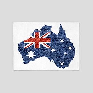 sequin australian flag 5'x7'Area Rug
