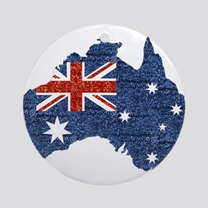 sequin australian flag Round Ornament