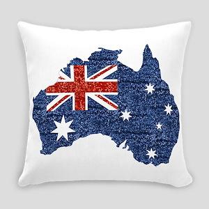 sequin australian flag Everyday Pillow