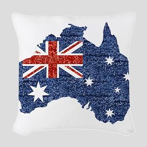 sequin australian flag Woven Throw Pillow
