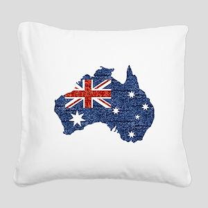 sequin australian flag Square Canvas Pillow
