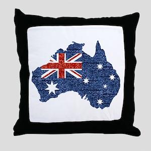 sequin australian flag Throw Pillow