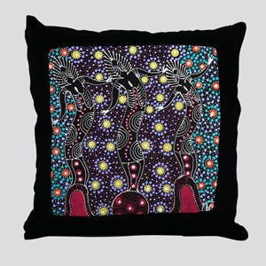 AUSTRALIAN ABORIGINAL ART_FERTILITY Throw Pillow