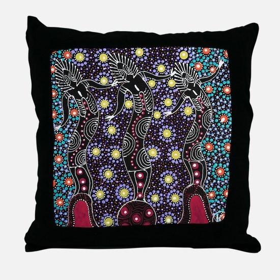 AUSTRALIAN ABORIGINAL ART_FERTILITY Throw Pillow