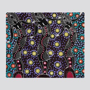 AUSTRALIAN ABORIGINAL ART_FERTILITY Throw Blanket