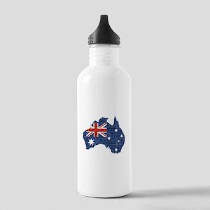 sequin australian flag Stainless Water Bottle 1.0L