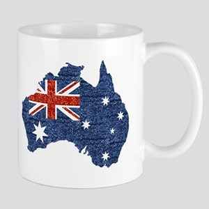 sequin australian flag Mugs