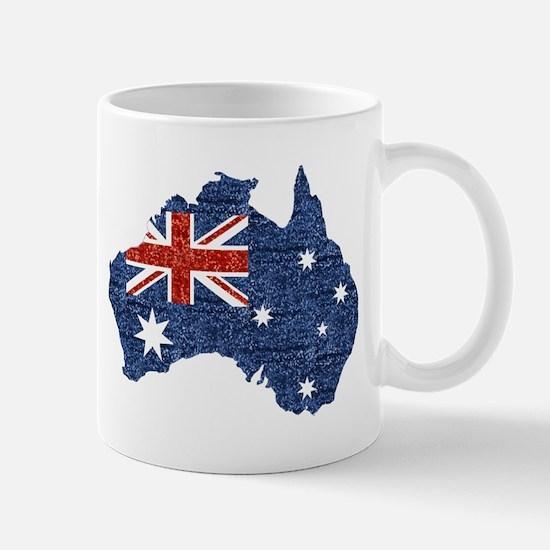 sequin australian flag Mugs