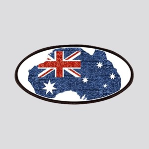 sequin australian flag Patch