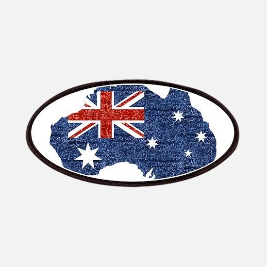 sequin australian flag Patch